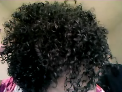 Wash and Go Results of Kinky Curly Not Today + Kiss My Face Upper Management Gel