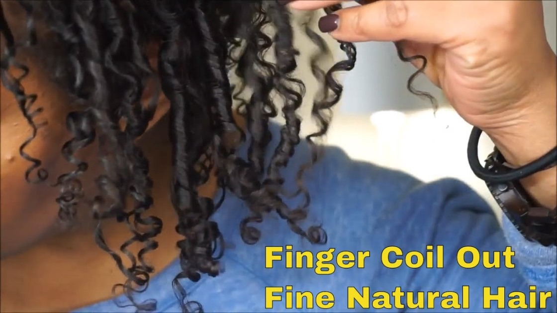 How To Finger Coils Tutorial Fine Natural Hair Styles Nolyenapturallyme